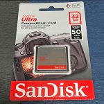 Sandiskの32GB Compact Flash 買ってみた